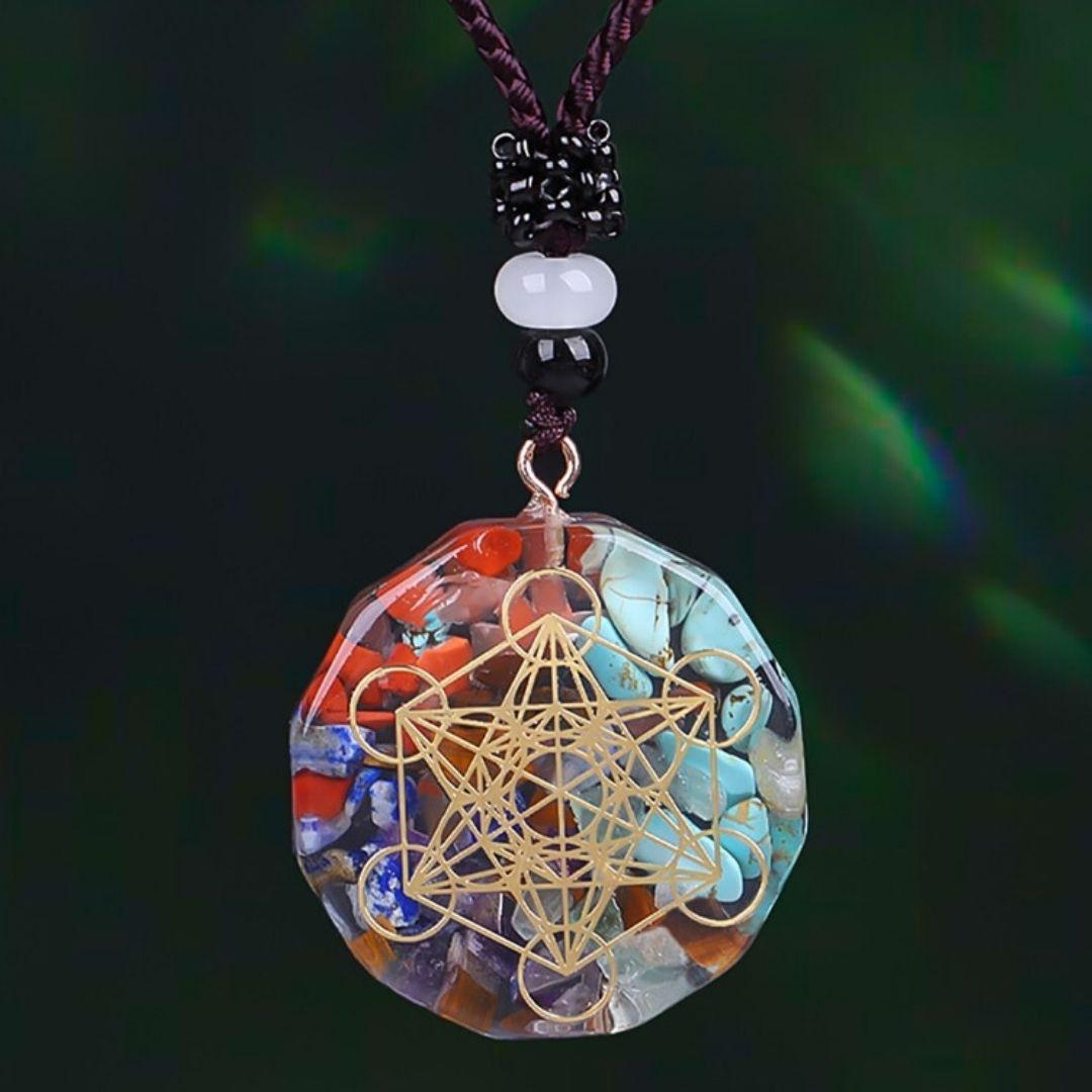 orgonite cristais metatron