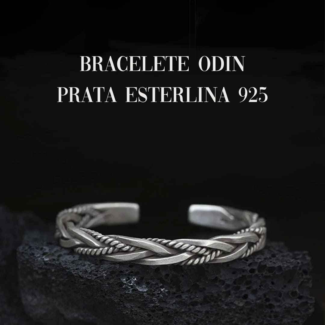 bracelete em prata esterlina masculina