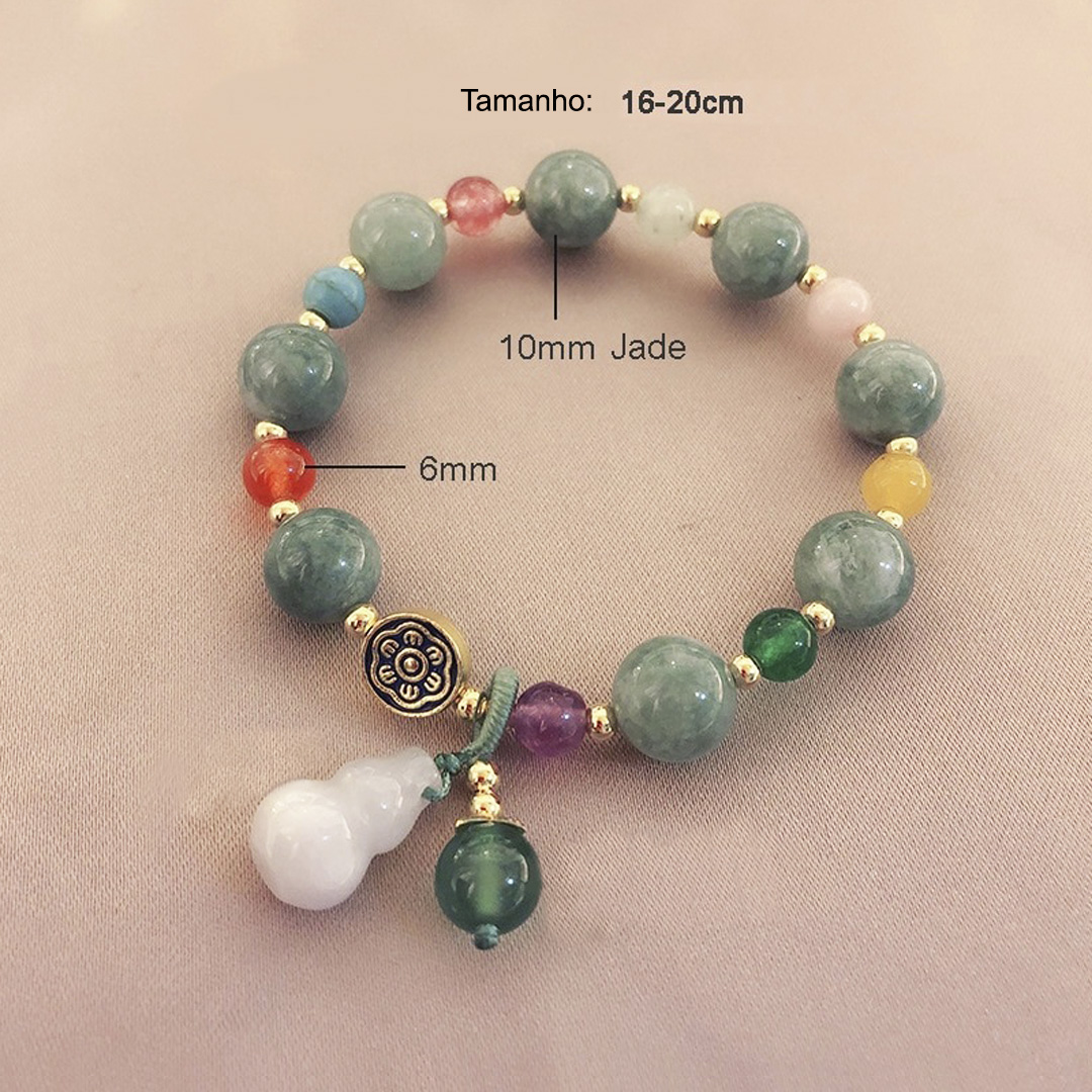 pulseira feminina de jade natural