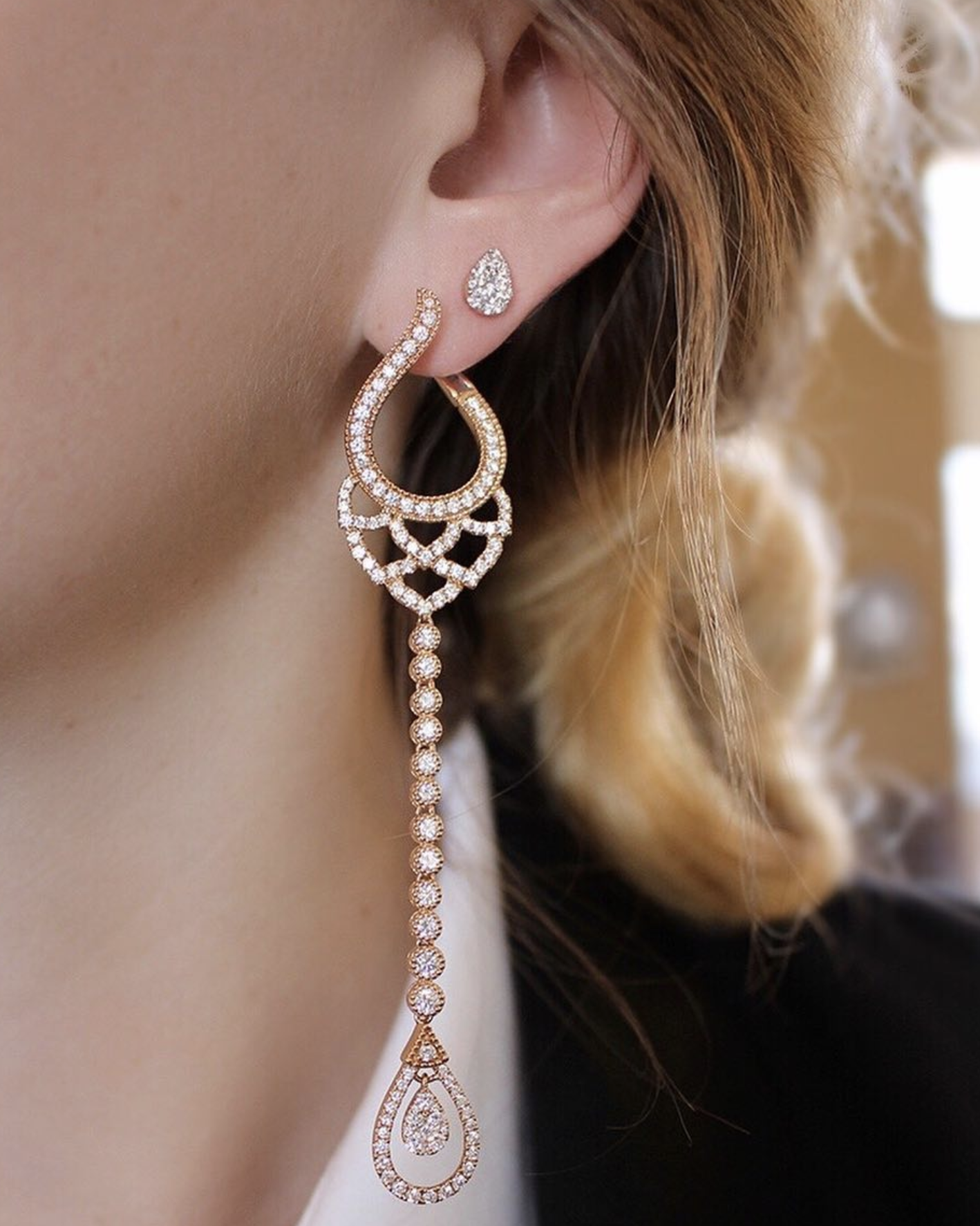 Sara Weinstock Jewelry - Brut Petal Drop Earrings