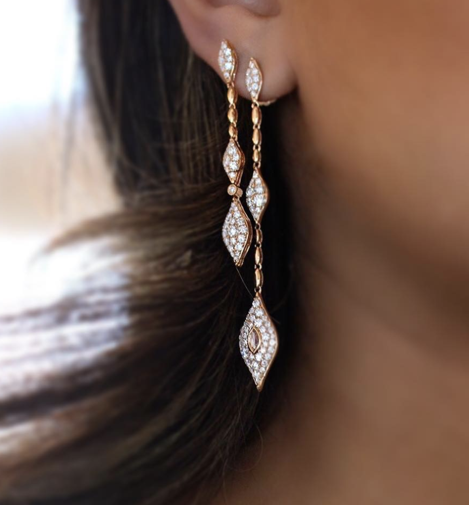 Sara Weinstock Jewelry - Donna Rose Cut Drop Earrings