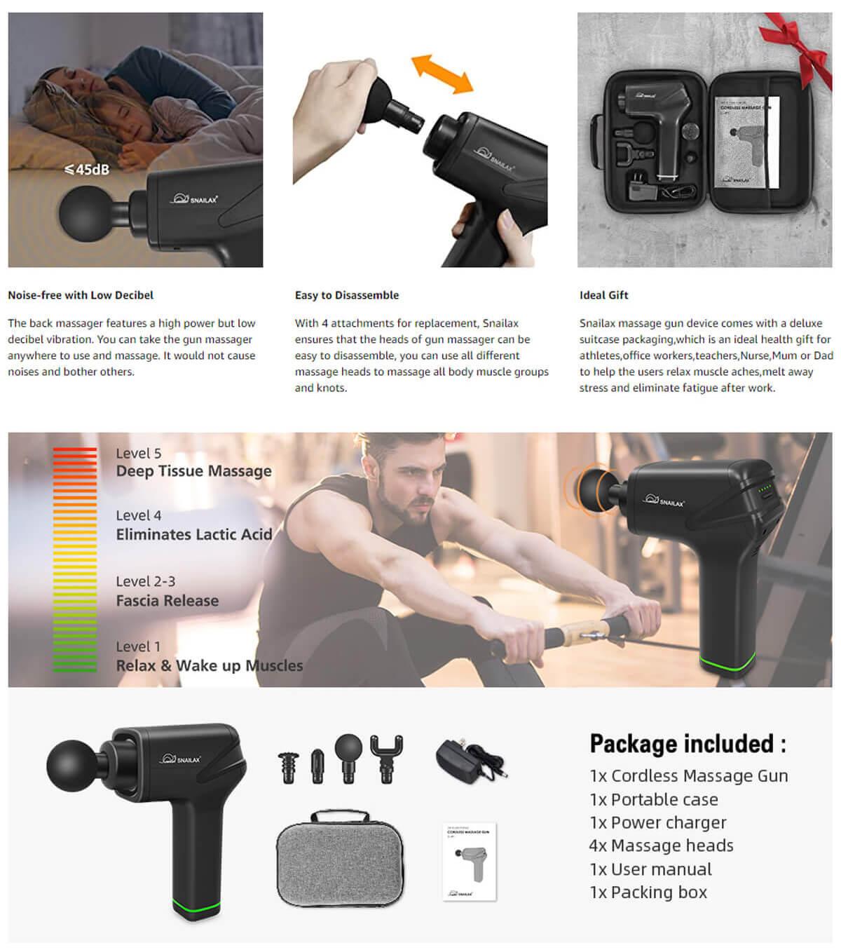 Snailax Cordless Massage Gun