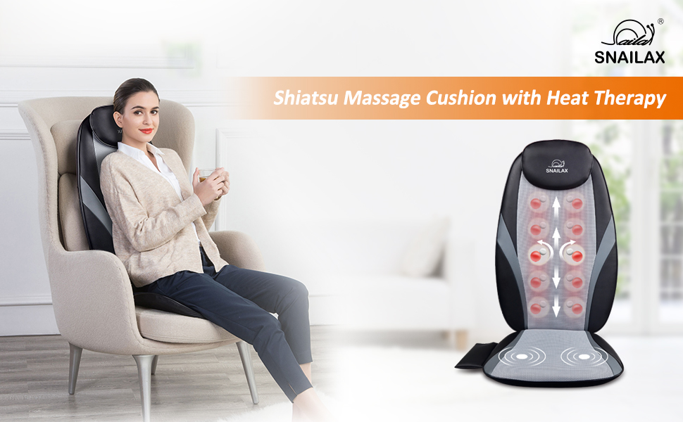 Shiatsu Massage Cushion with Heat Therapy