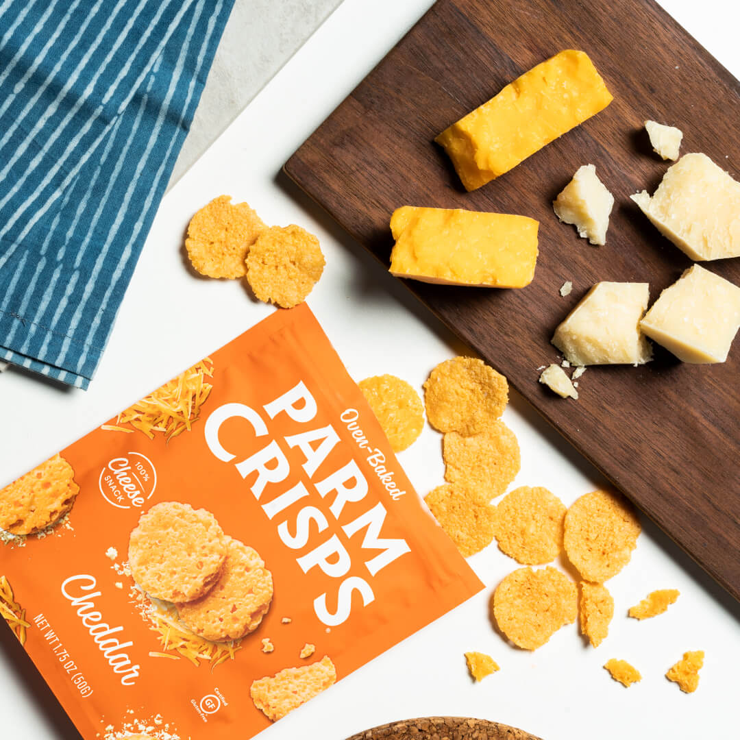 Cheddar crisps lifestyle image