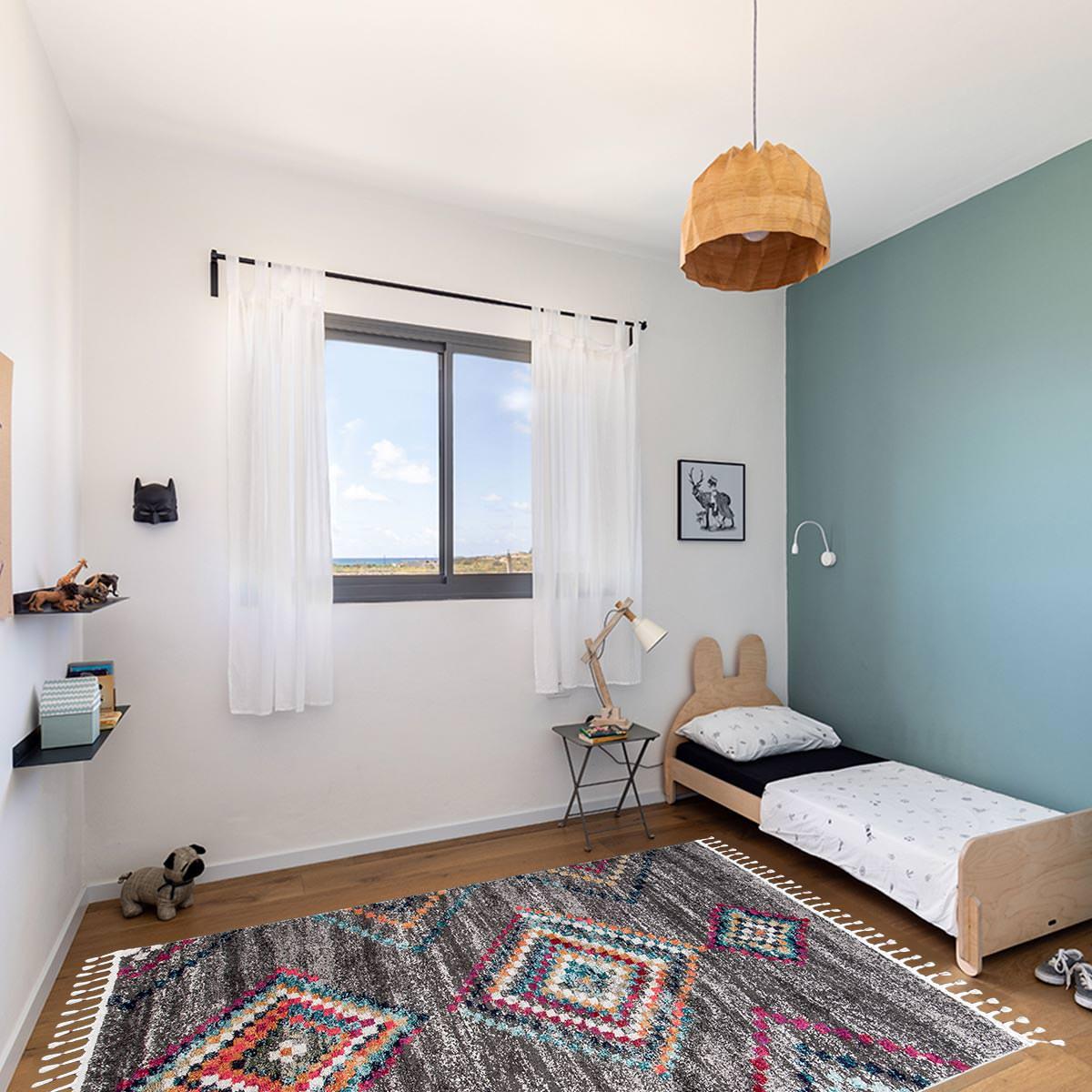 Mykonos Bohemian rug grey