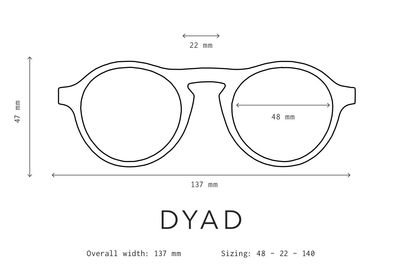 Dyad Sunglasses Fit Information