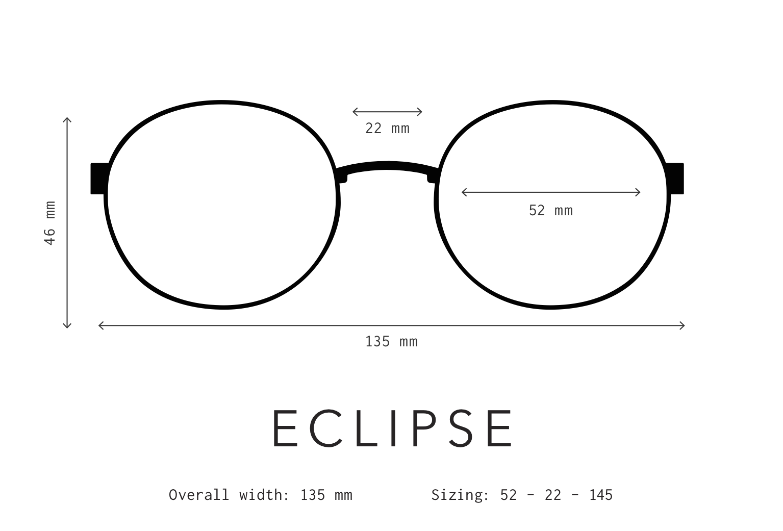 Eclipse Sunglasses Fit Information