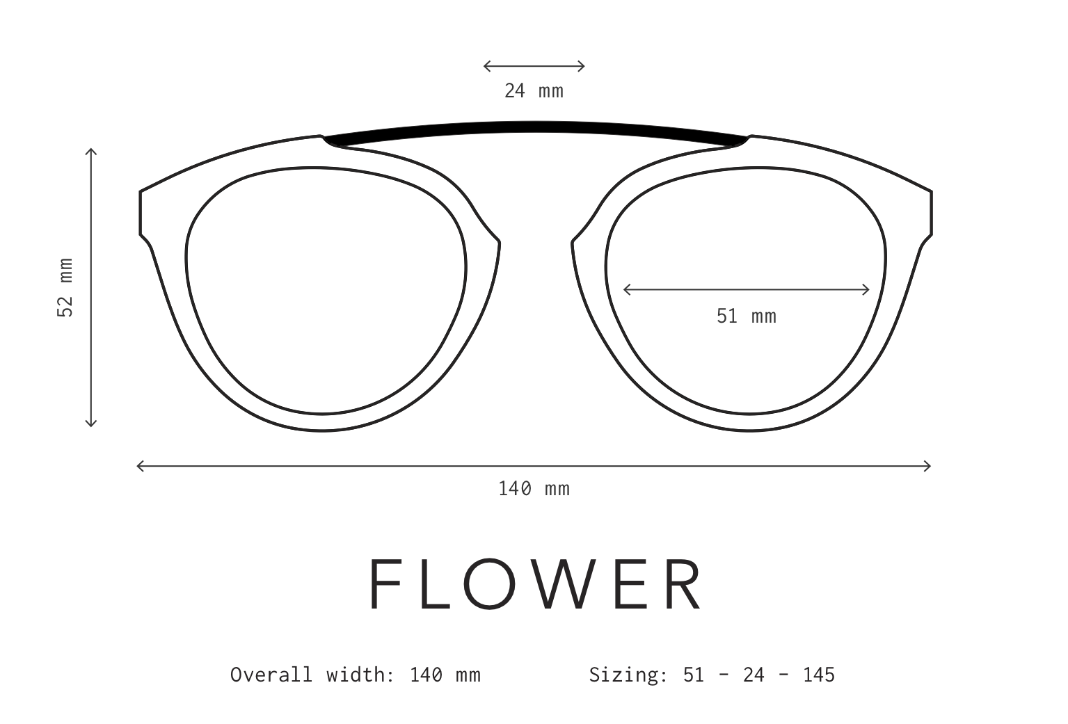 Flower Sunglasses Fit Information
