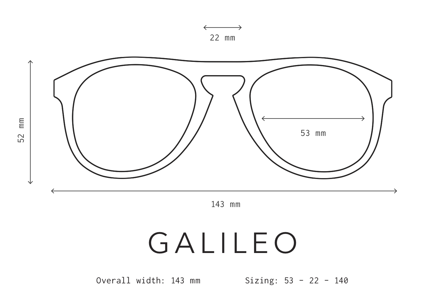 Galileo Sunglasses Fit Information