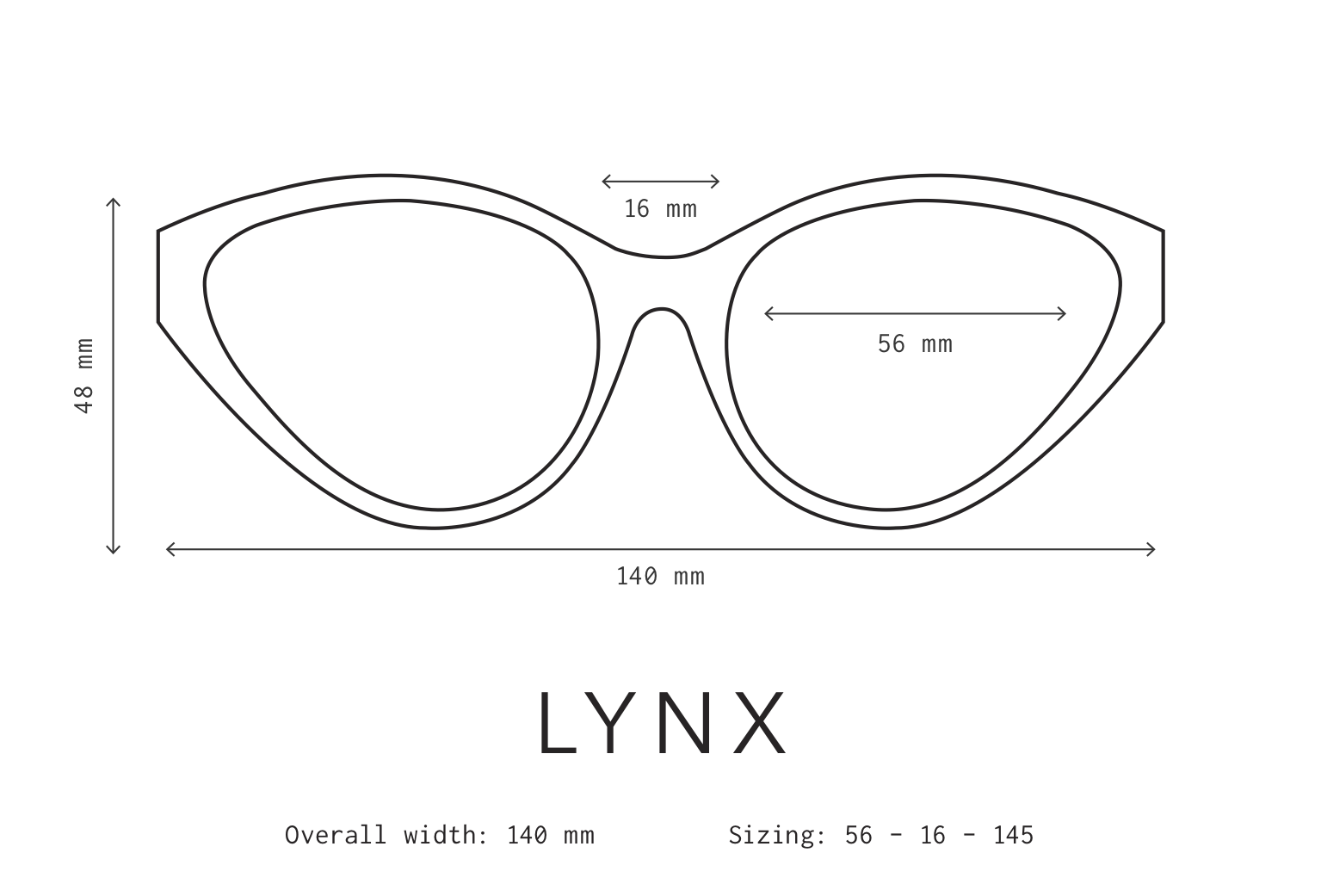 Lynx Sunglasses Fit Information