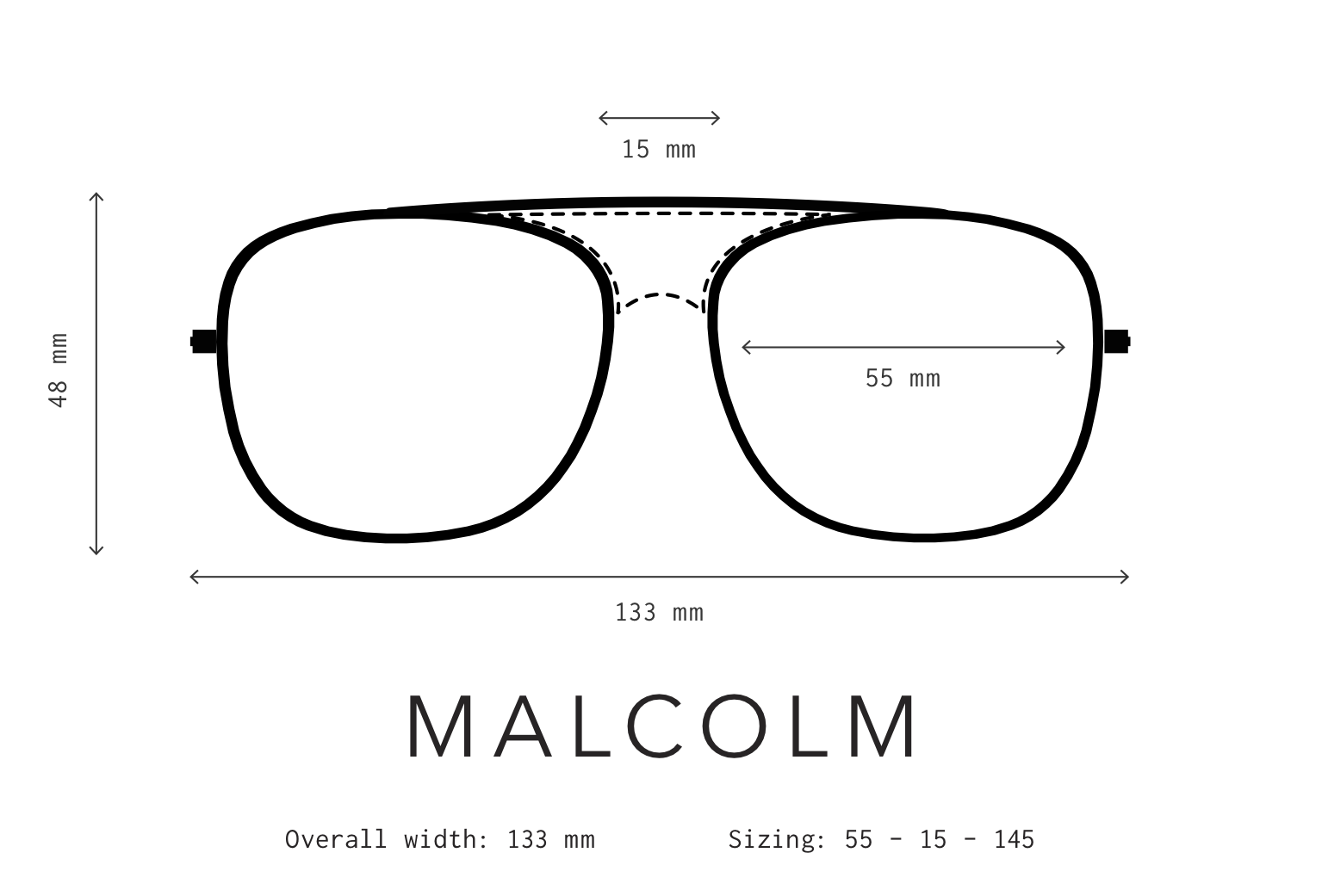 Malcolm Sunglasses Fit Information