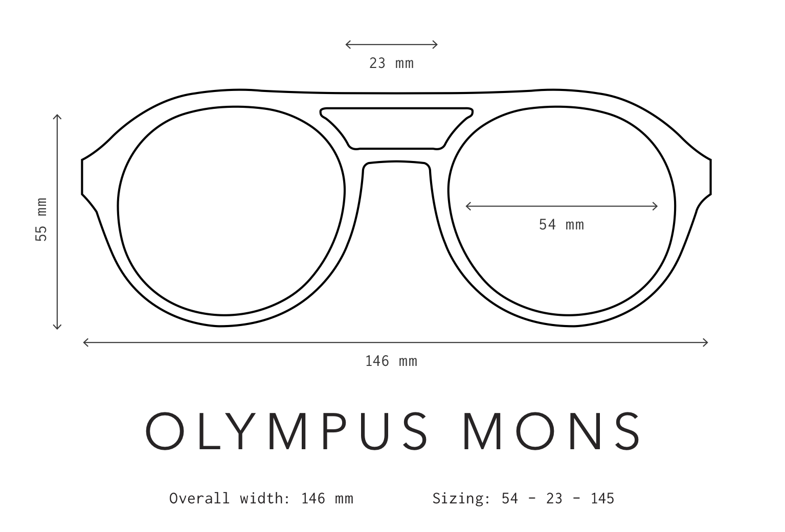 Olympus Mons Sunglasses Fit Information
