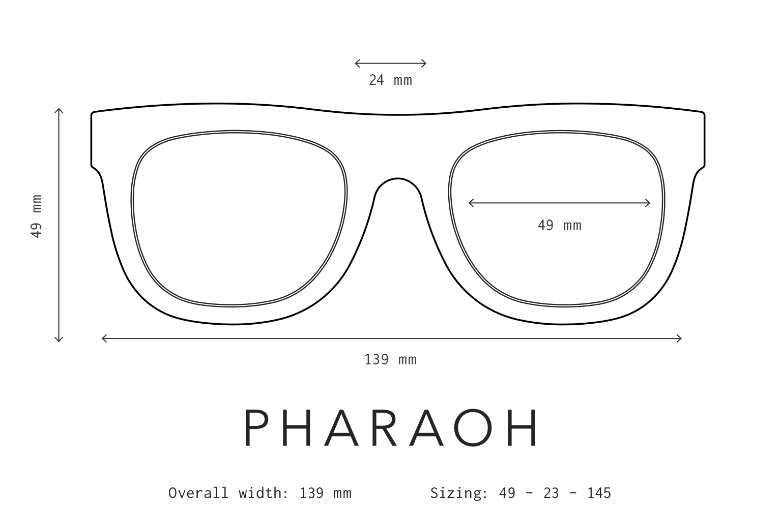Pharaoh Sunglasses Fit Information