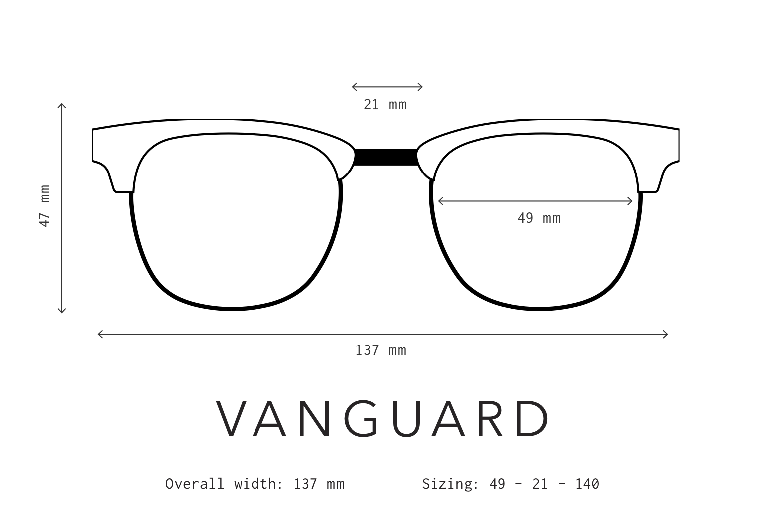 Vanguard Sunglasses Fit Information