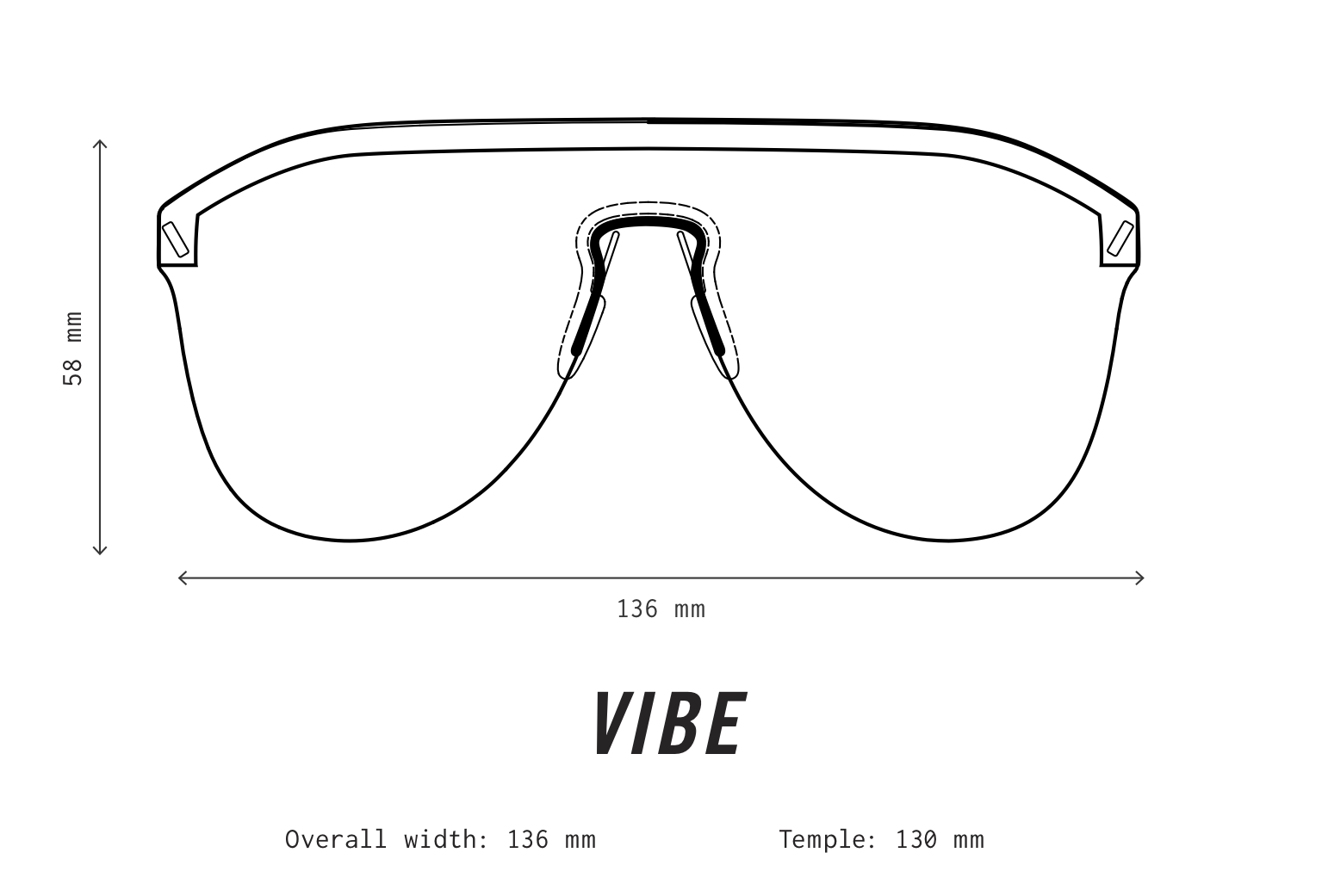 VIBE Sunglasses Fit Information
