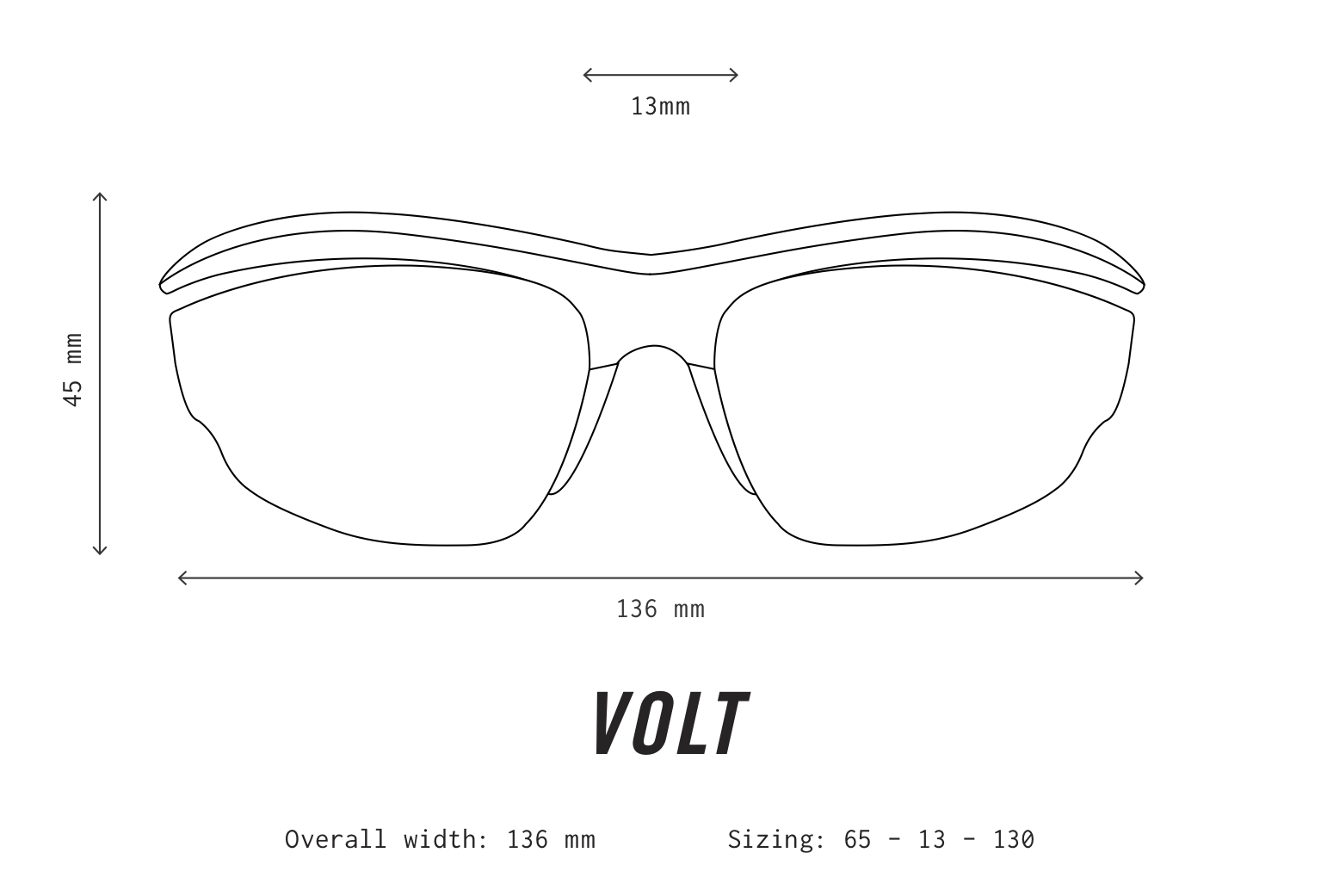 VOLT Sunglasses Fit Information
