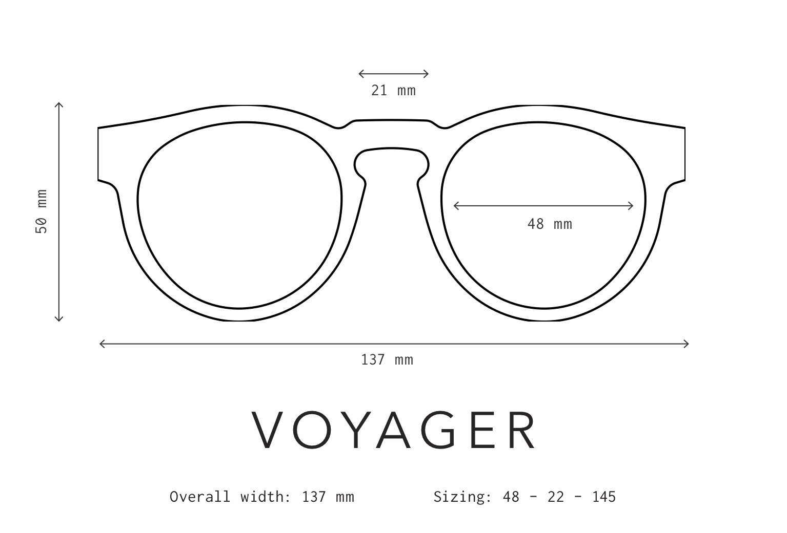 Voyager Sunglasses Fit Information