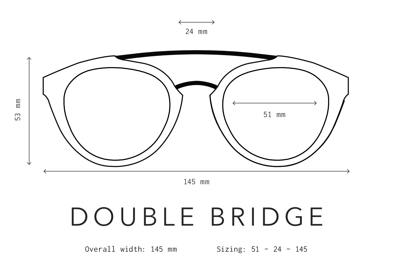 Double Bridge Sunglasses Fit Information