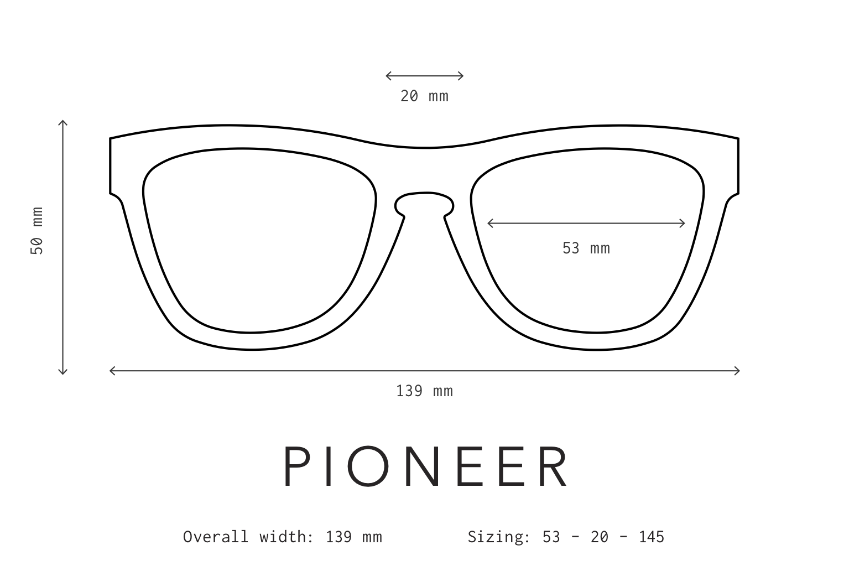 Pioneer Sunglasses Fit Information