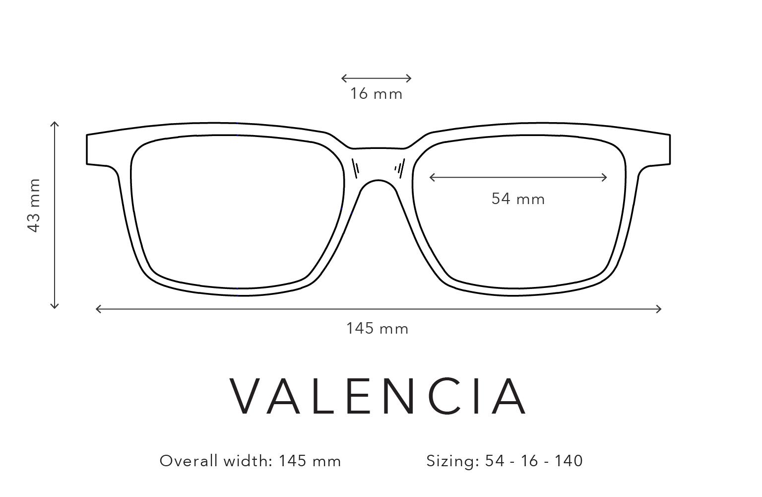 Valencia Frame Sizing