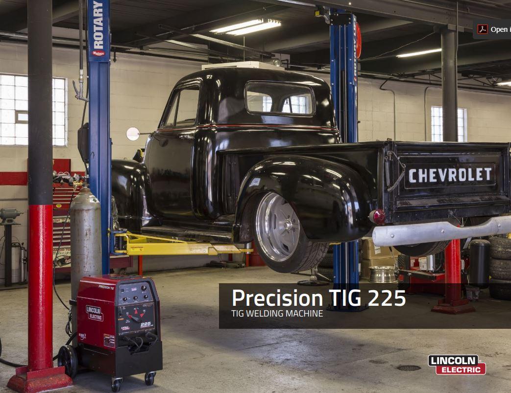 Precision TIG 225 Spec Sheet
