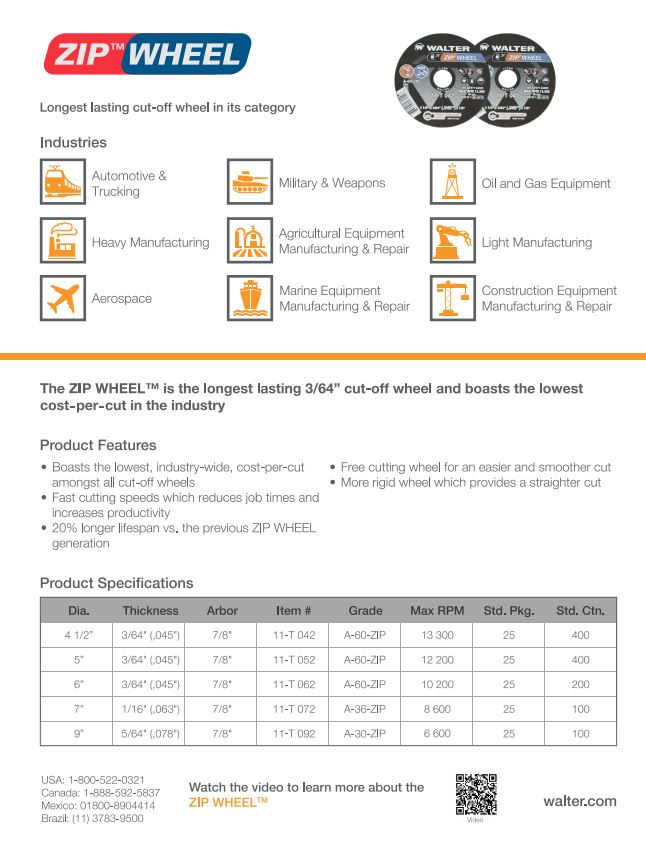 Zip Wheel Product Sheet