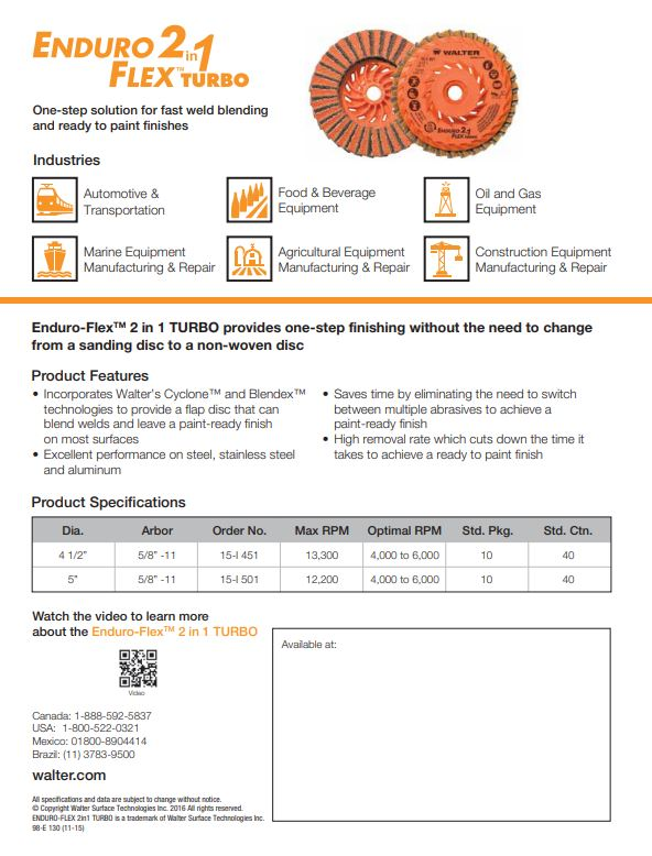 Enduro 2 in 1 Product Sheet