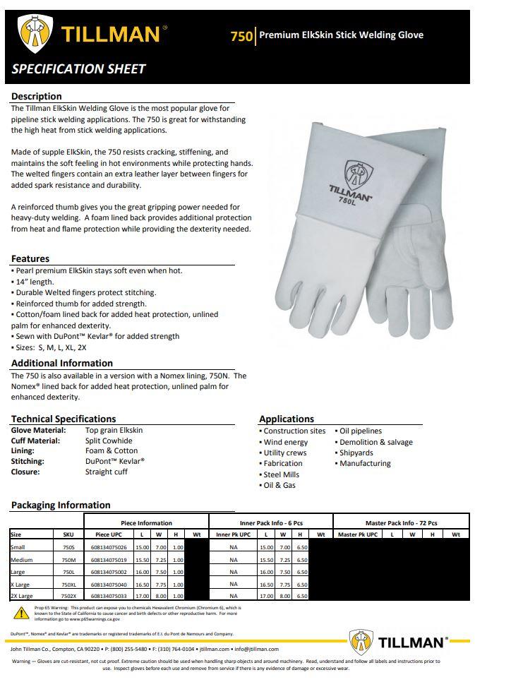 Tillman 750 Spec Sheet