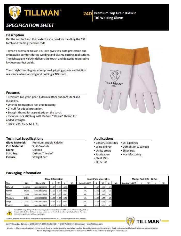 Tillman 24D Product Sheet