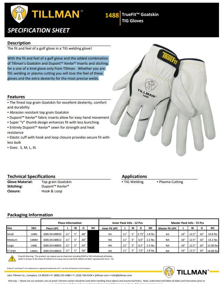 Tillman 1488 Product Sheet