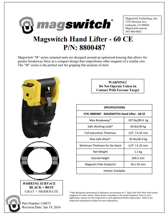 Hand Lifter Magnetic