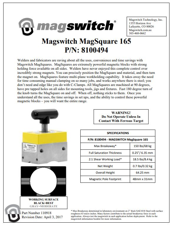 Magswitch Magsquare 165