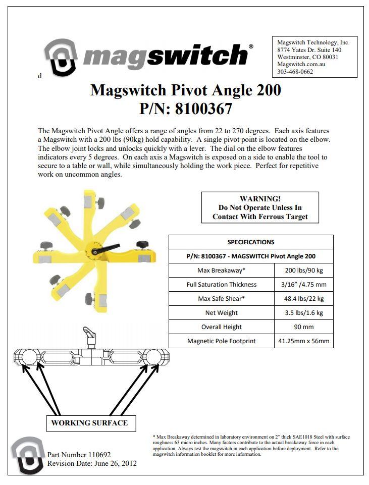 Magswitch Pivot Angle 200