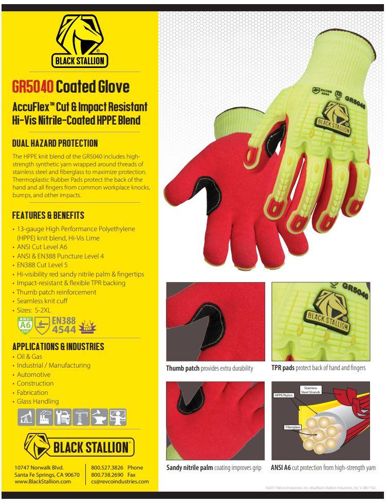 GR5040 Coated Gloves