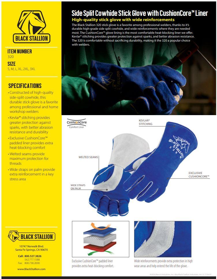 Black Stallion 320 Stick Gloves