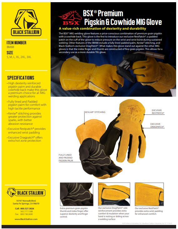 Black Stallion BM88 MIG Gloves