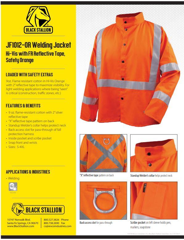 Black Stallion Orange Safety Welding Jacket