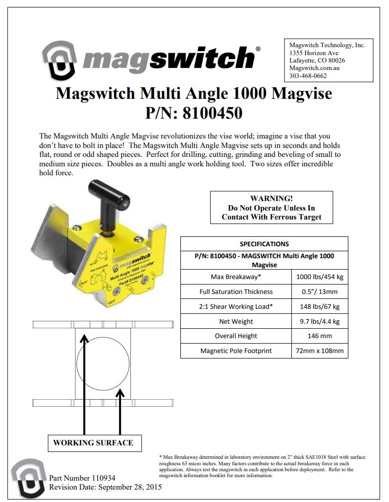 Magswitch MagVise1000