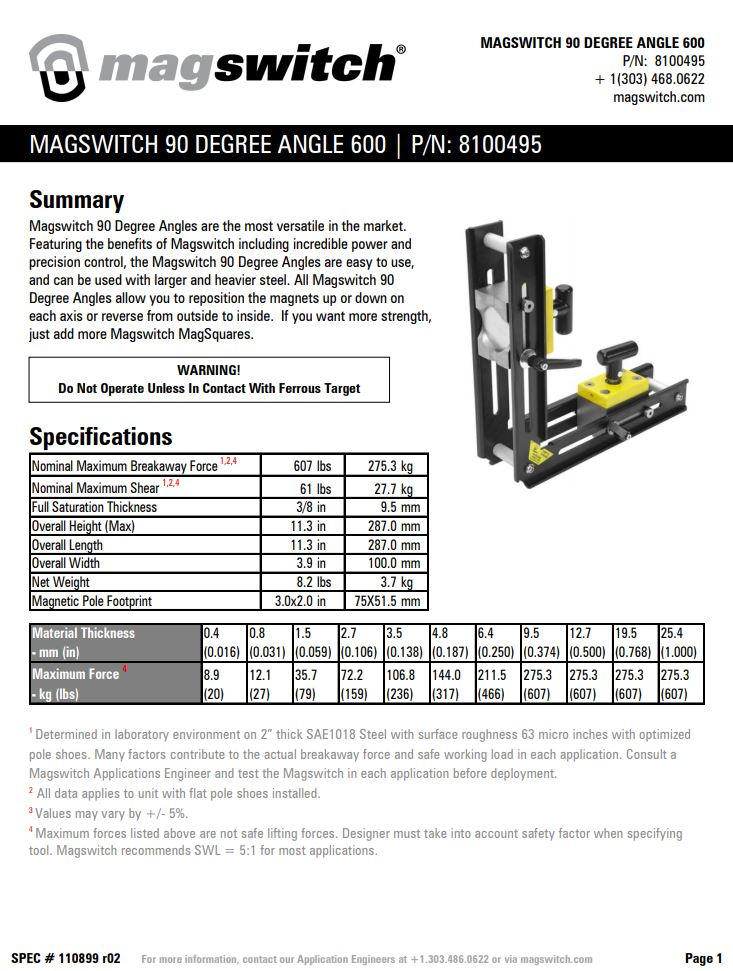 Magswitch 90 Degree Angle 600