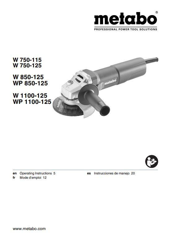 Metabo W 1100-125 Angle Grinder Product Guide