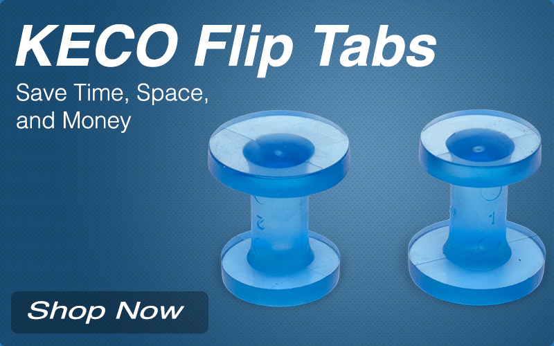 KECO Flip Tabs - Save Time, Space, and Money