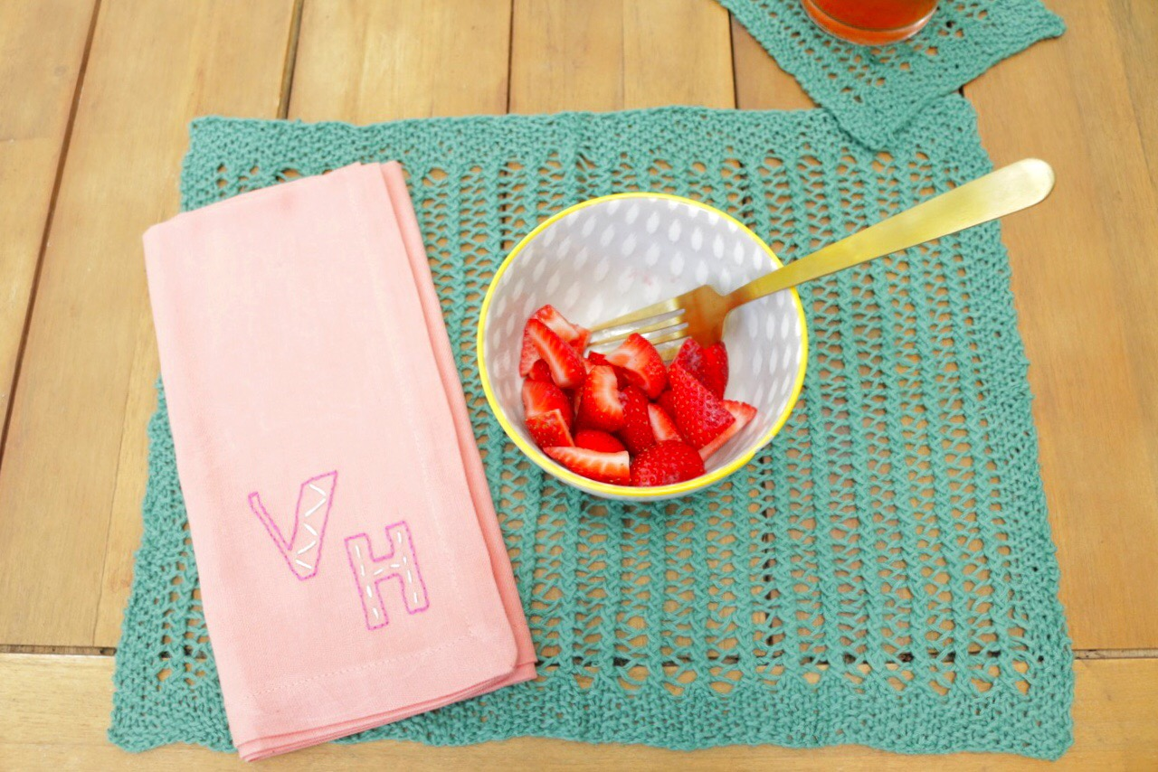 YarnYAY! August Knit placemat