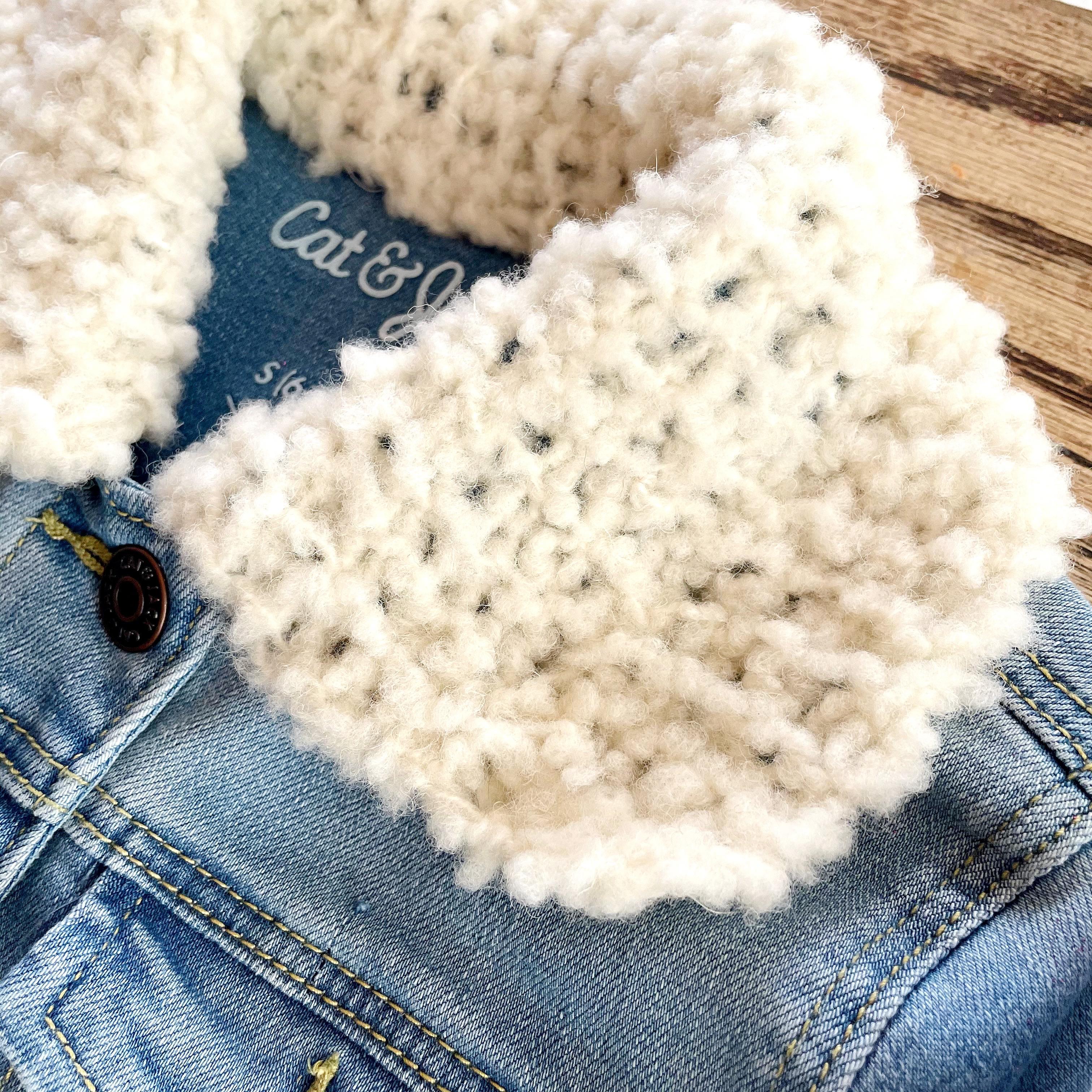 Knit Fur Collar