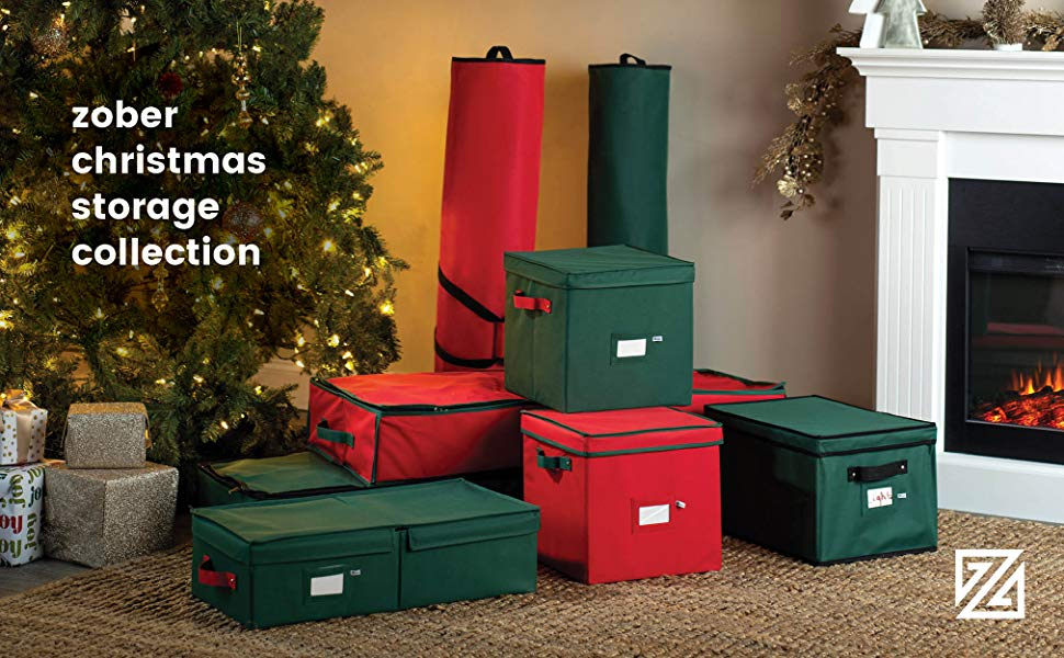 Premium Underbed Christmas Holiday Ornament Storage Box, Stores up to 64 Standard Ornaments,