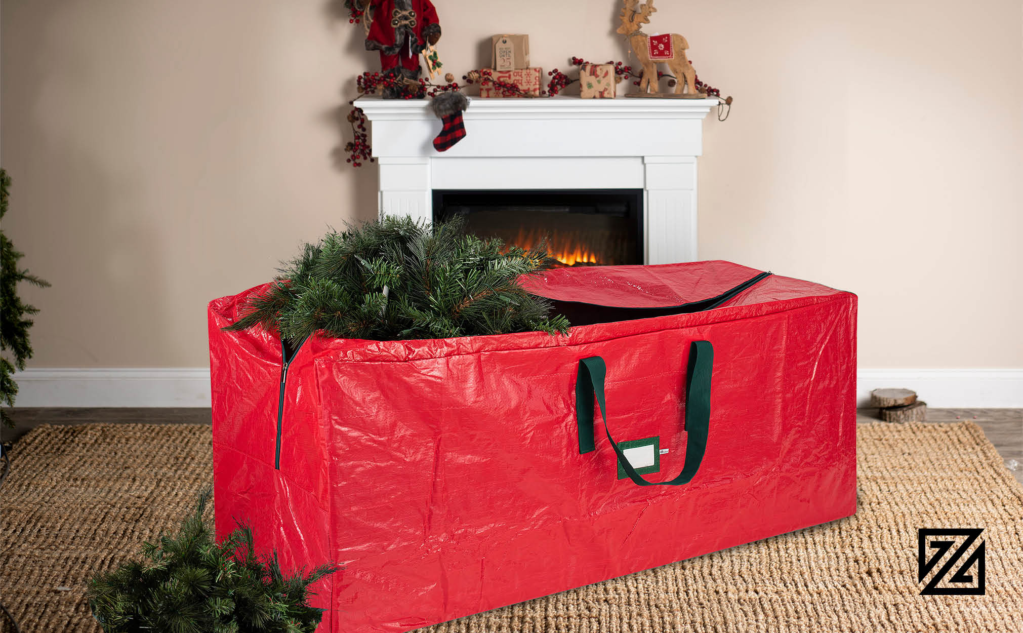 Zober Christmas Tree Storage Bag Fits Tree Up To 9 Ft Tall 65 X