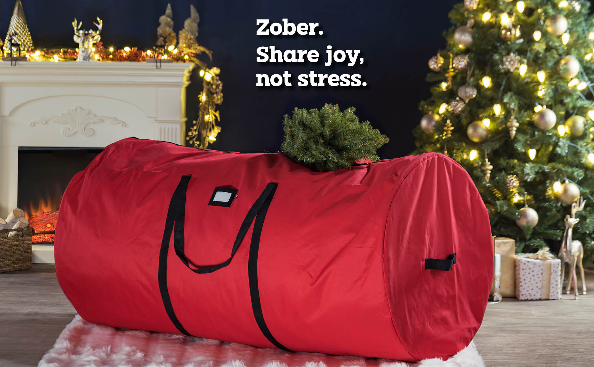 9 ft. Premium extra Large Christmas Tree Storage Bag, (Red)