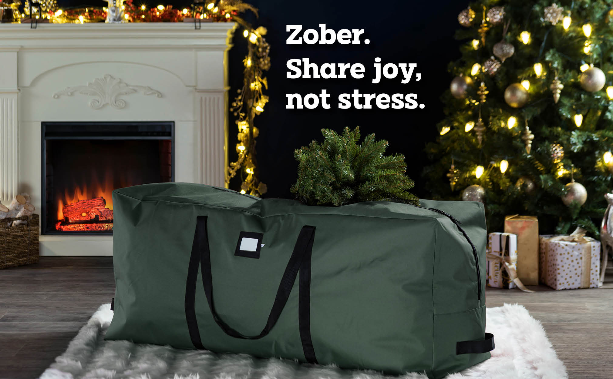 9 ft.  Premium extra large christmas tree storage bag, (Green)