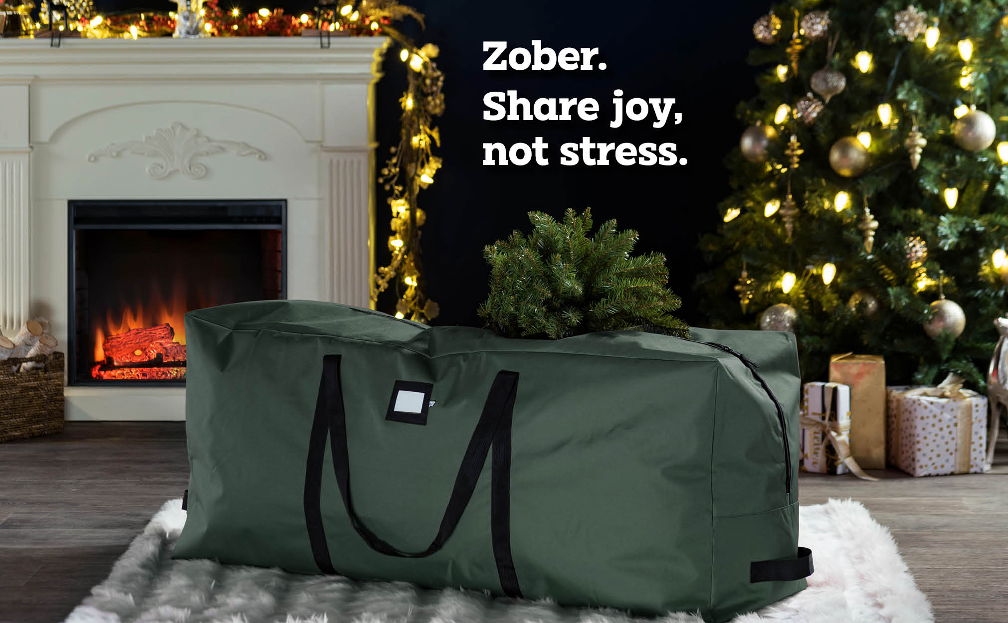 7.5ft.  Premium extra large Christmas tree storage bag, (Green)