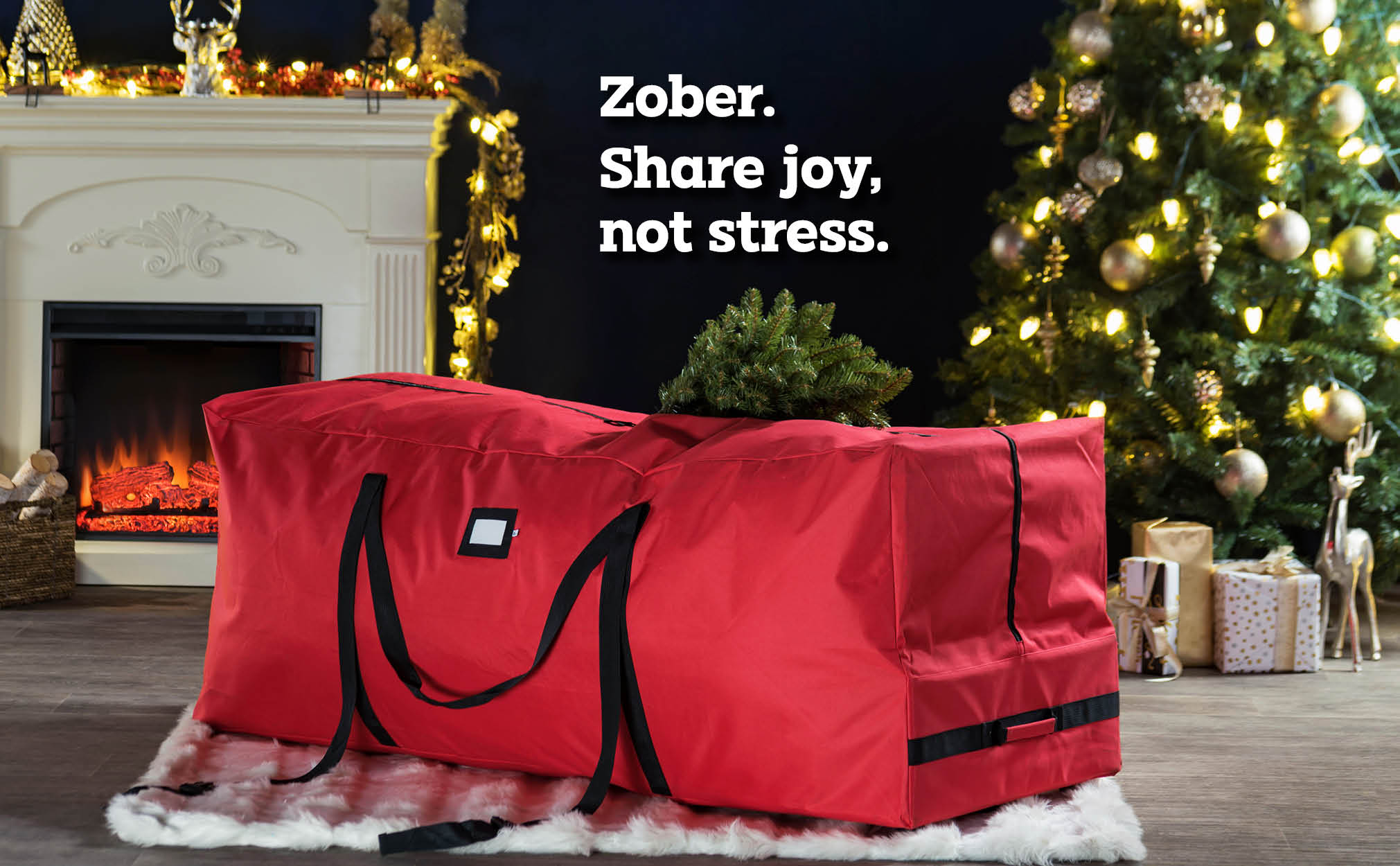 9 ft  Rolling extra Large Christmas Tree Storage Bag, (Red)
