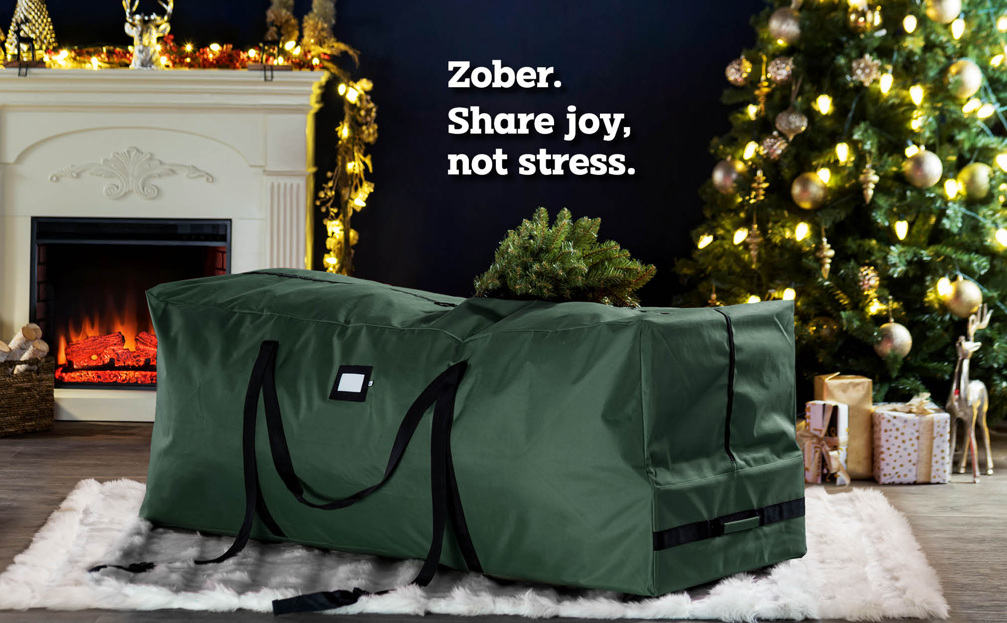 9 ft  Rolling extra Large Christmas Tree Storage Bag, (Green)